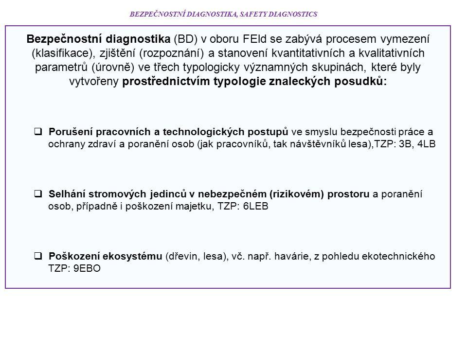 BEZPEČNOSTNÍ DIAGNOSTIKA, SAFETY DIAGNOSTICS Bezpečnostní diagnostika (BD) v oboru FEld se zabývá procesem vymezení (klasifikace), zjištění (rozpoznán