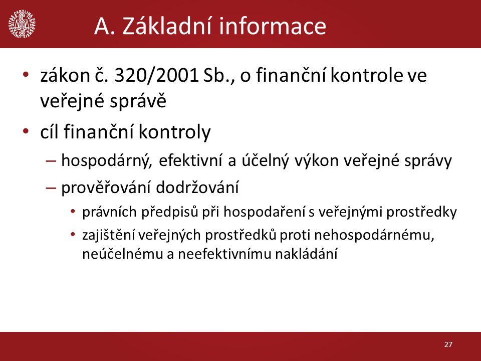 A. Základní informace zákon č.