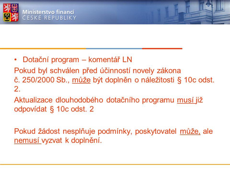 Ministerstvo financí České republiky Zveřejnění veřejnoprávní smlouvy o poskytnutí dotace nebo NFV Zveřejňuje se veřejnoprávní smlouva: -uzavřená od 1.
