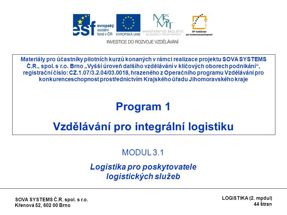 1 Materiály pro účastníky pilotních kurzů konaných v rámci realizace projektu SOVA SYSTEMS Č.R., spol.