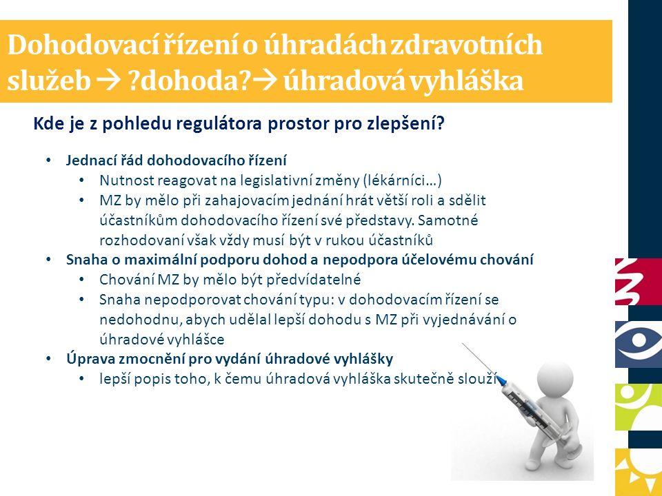 Dohodovací řízení o úhradách zdravotních služeb  dohoda.