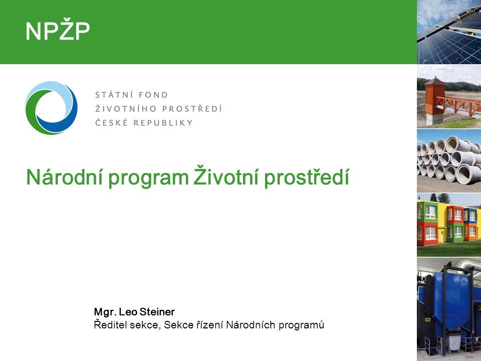NPŽP Národní program Životní prostředí Mgr.