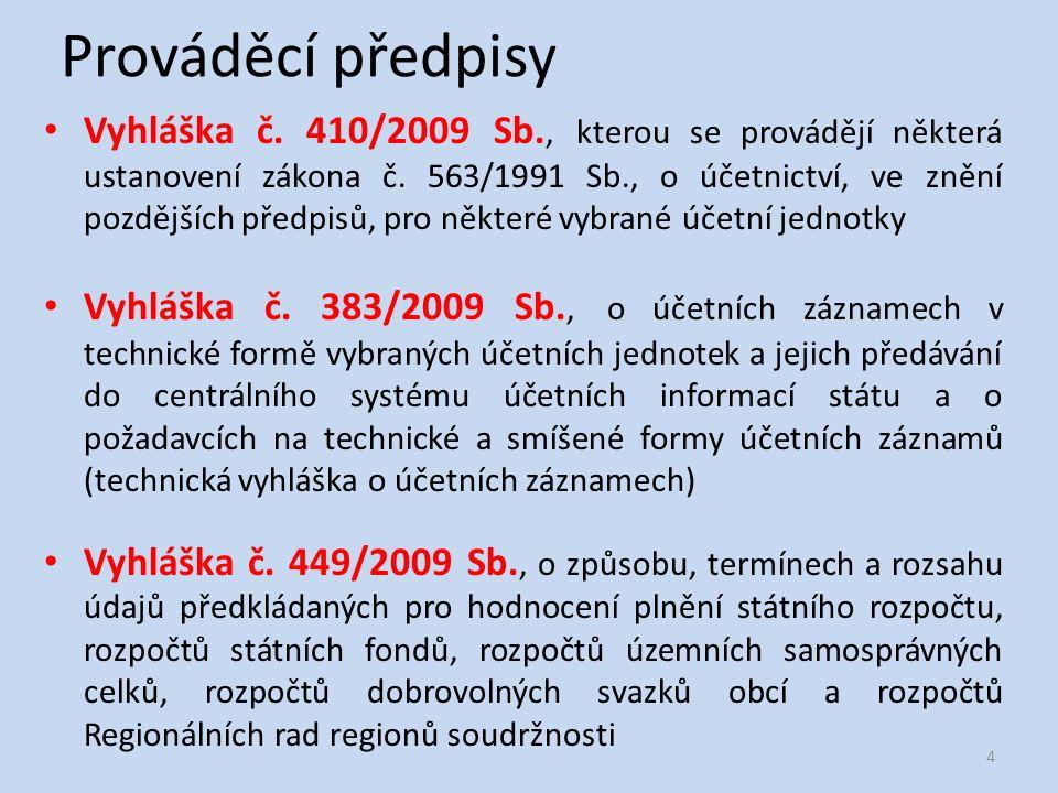České účetní standardy I.
