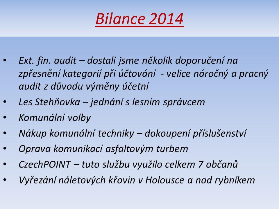 Bilance 2014 Ext. fin.