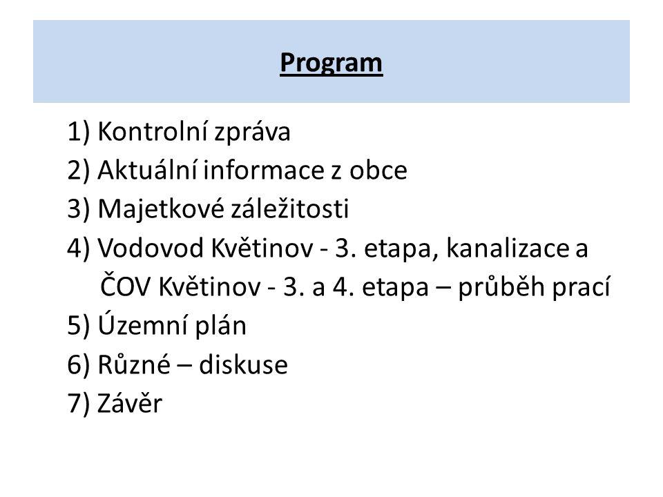 4.Vodovod Květinov - 3. et, kanalizace a ČOV Květinov - 3.