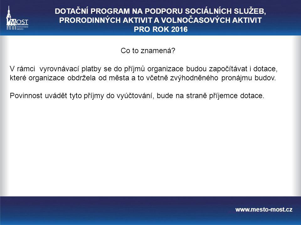 www.mesto-most.cz Co to znamená.