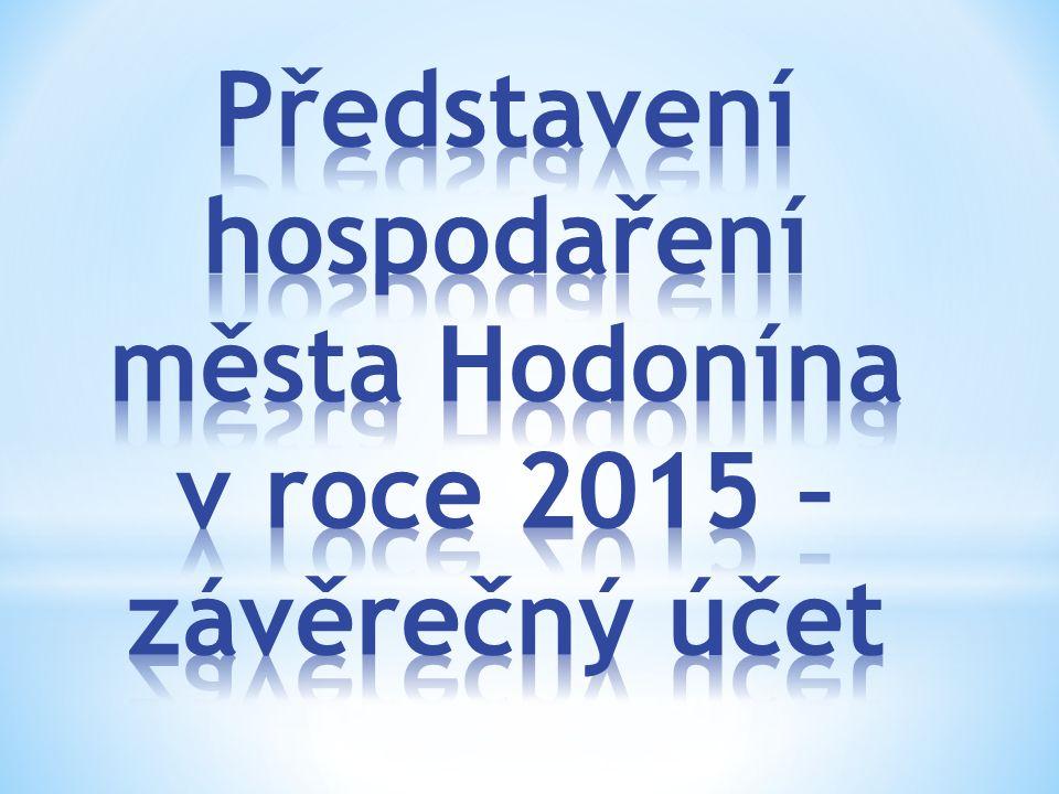 Obsah prezentace 1.Zhodnocení roku 2015: - příjmy, - výdaje, - celkem.