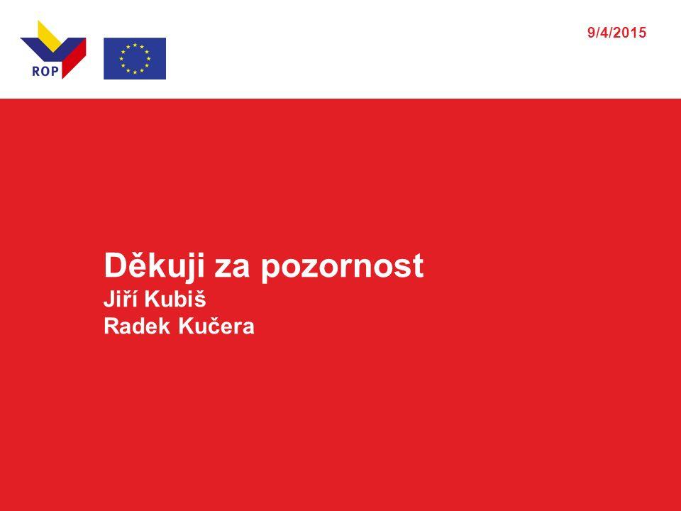 Děkuji za pozornost Jiří Kubiš Radek Kučera 9/4/2015
