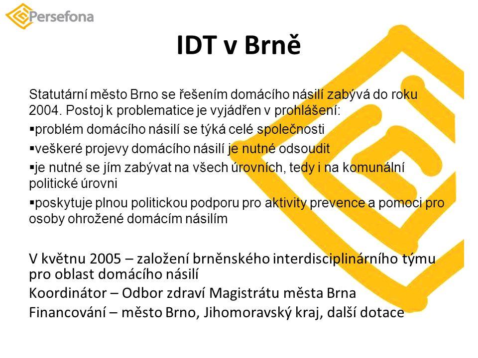 IDT v Brně Statutární město Brno se řešením domácího násilí zabývá do roku 2004.