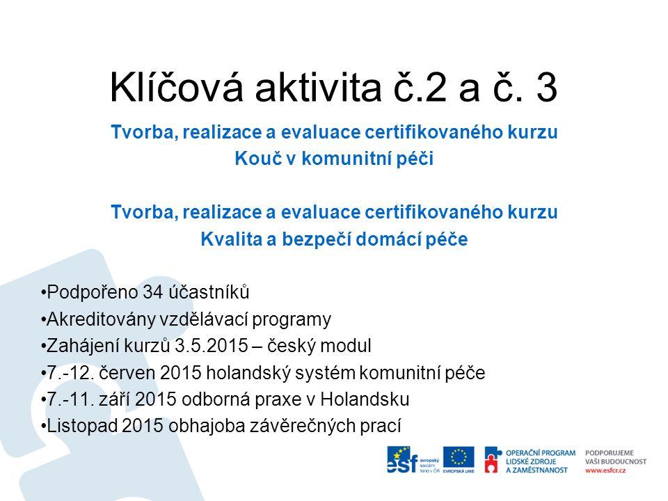 Informace ze zahraniční odborné stáže 6 oblastí zájmu 1.
