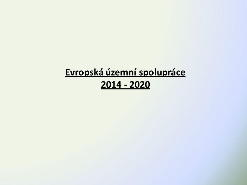 Evropská územní spolupráce 2014 - 2020