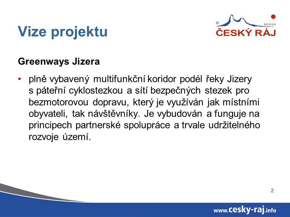 3 Hlavní strategické cíle Vytvoření stezek pro bezpečnou bezmotorovou dopravu a rekreaci podél toku řeky Jizery pro místní obyvatele a návštěvníky.