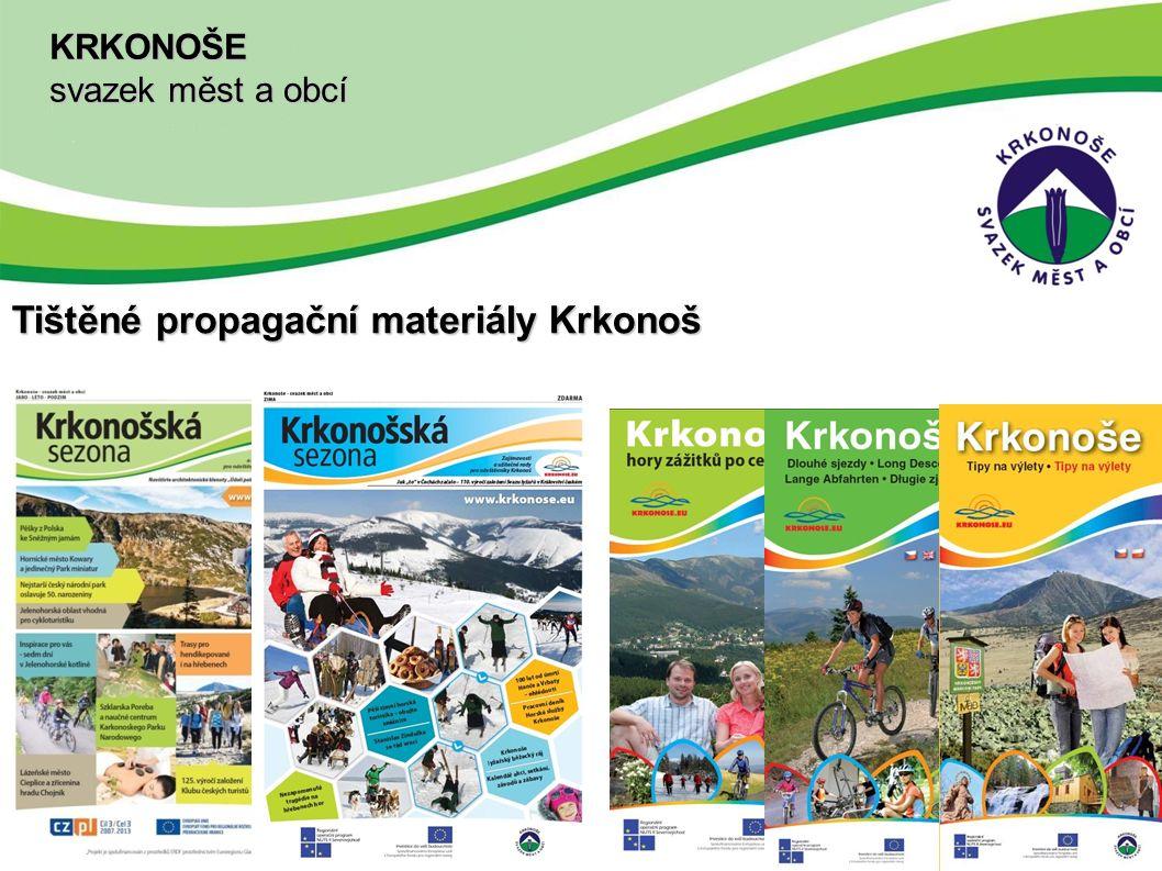 Tištěné propagační materiály Krkonoš KRKONOŠE svazek měst a obcí