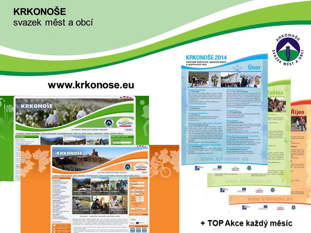 www.krkonose.eu + TOP Akce každý měsíc