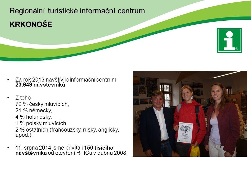 Za rok 2013 navštívilo informační centrum 23.649 návštěvníků Z toho 72 % česky mluvících, 21 % německy, 4 % holandsky, 1 % polsky mluvících 2 % ostatních (francouzsky, rusky, anglicky, apod.).