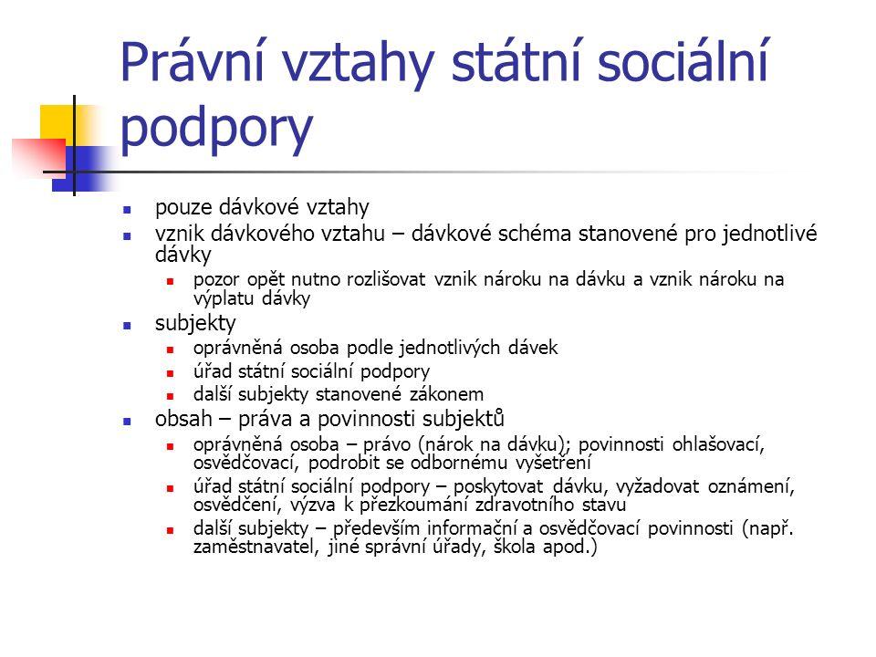 Vymezení některý pojmů ve státní sociální podpoře nezaopatřené dítě - § 11 a násl.