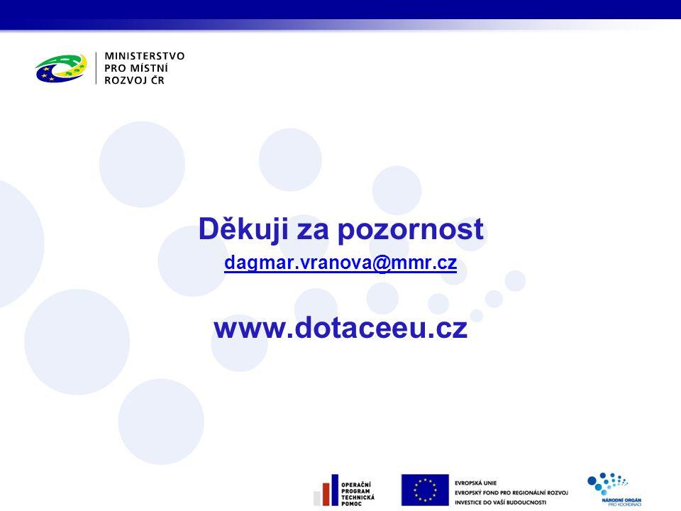 Děkuji za pozornost dagmar.vranova@mmr.cz www.dotaceeu.cz
