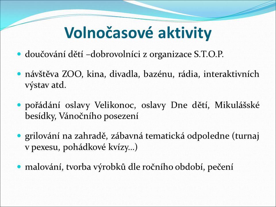 Volnočasové aktivity doučování dětí –dobrovolníci z organizace S.T.O.P.