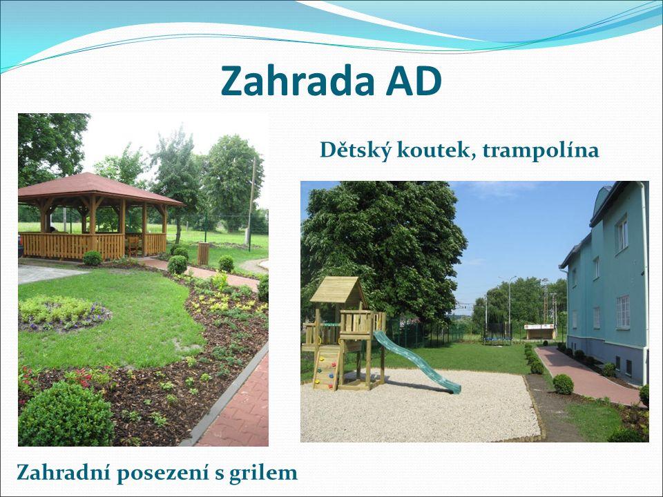 Zahrada AD Zahradní posezení s grilem Dětský koutek, trampolína