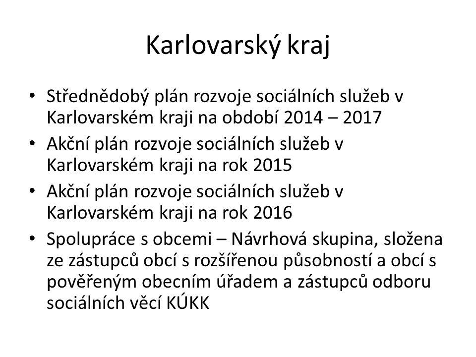 Karlovarský kraj Střednědobý plán rozvoje sociálních služeb v Karlovarském kraji na období 2014 – 2017 Akční plán rozvoje sociálních služeb v Karlovar