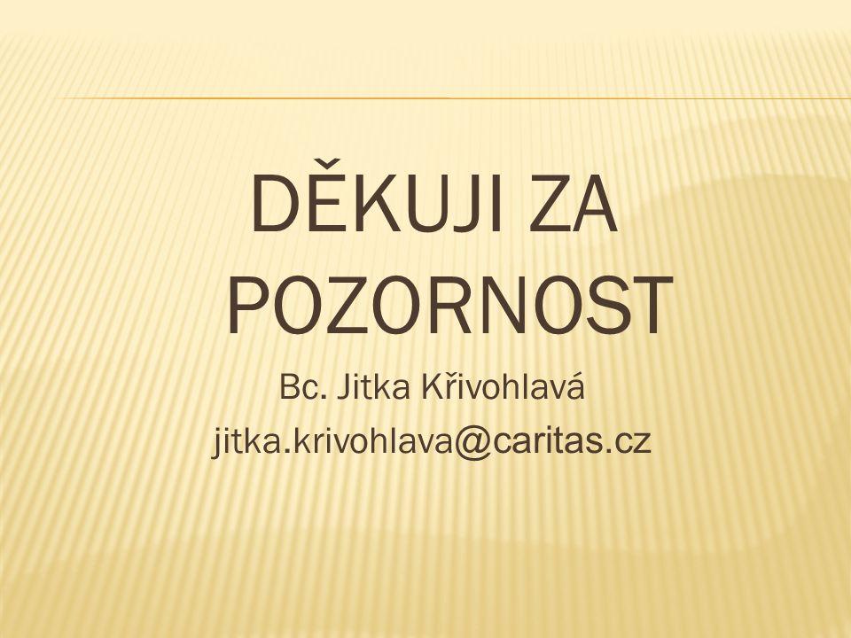 DĚKUJI ZA POZORNOST Bc. Jitka Křivohlavá jitka.krivohlava @caritas.cz