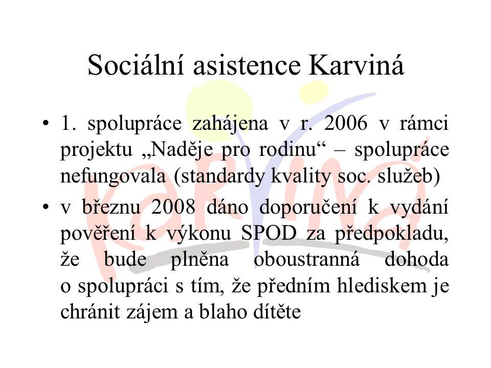 Sociální asistence Karviná 1. spolupráce zahájena v r.