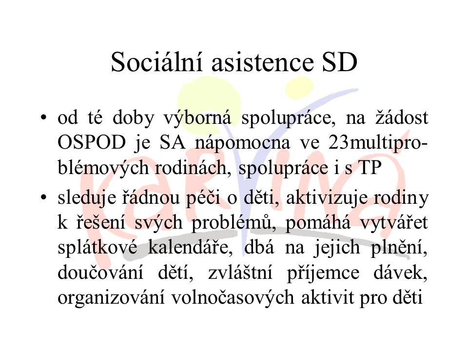 Sociální asistence SD účastní se případových konferencí pořádaných na OSPOD v roli obhájce rodiny