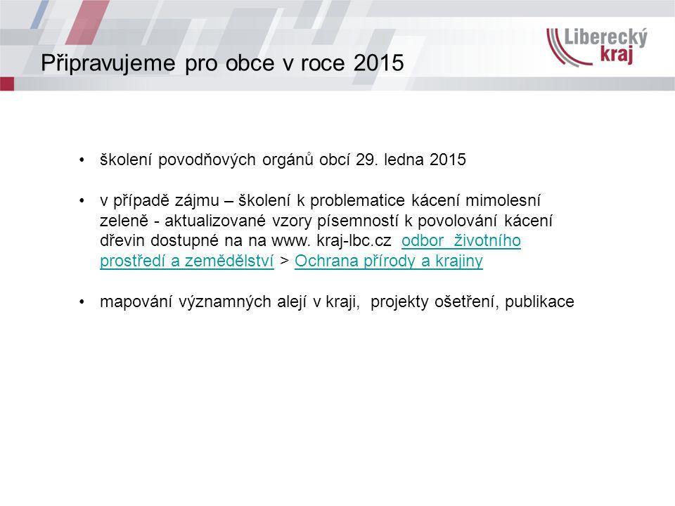 Připravujeme pro obce v roce 2015 školení povodňových orgánů obcí 29.