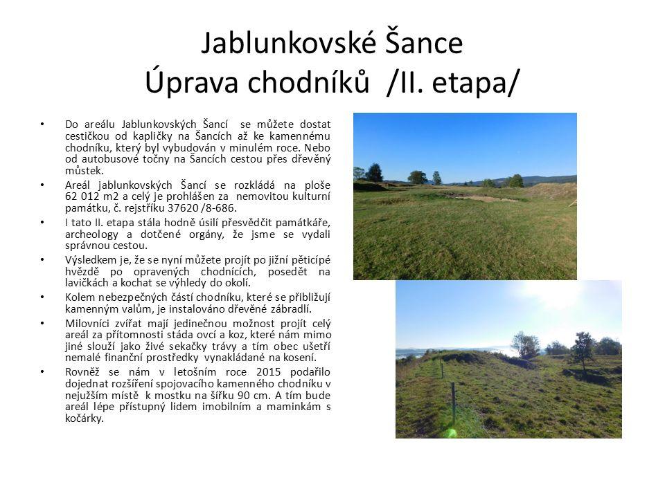 Jablunkovské Šance Úprava chodníků /II.