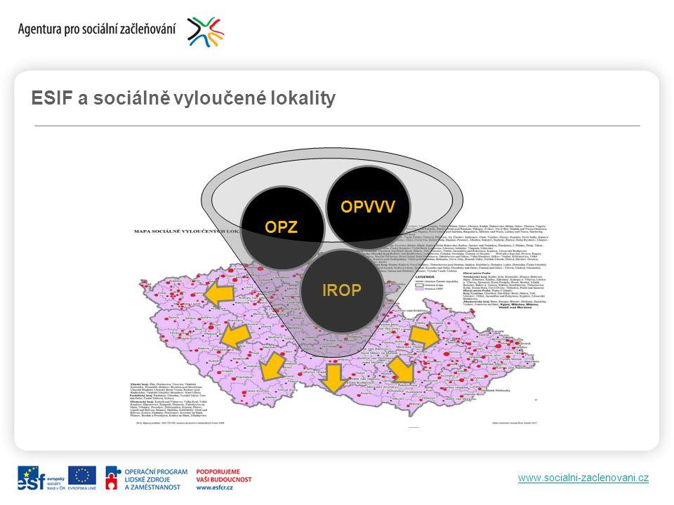 www.socialni-zaclenovani.cz ESIF a sociálně vyloučené lokality IROPOPZOPVVV