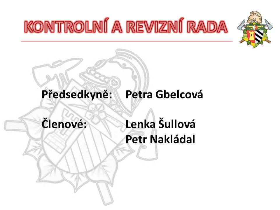 Předsedkyně:Petra Gbelcová Členové:Lenka Šullová Petr Nakládal