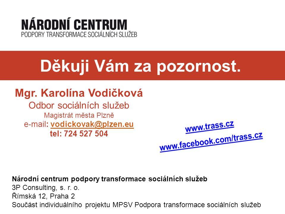 Děkuji Vám za pozornost. Národní centrum podpory transformace sociálních služeb 3P Consulting, s.