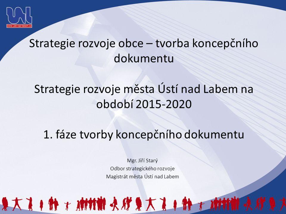 Strategie rozvoje obce – tvorba koncepčního dokumentu Strategie rozvoje města Ústí nad Labem na období 2015-2020 1. fáze tvorby koncepčního dokumentu