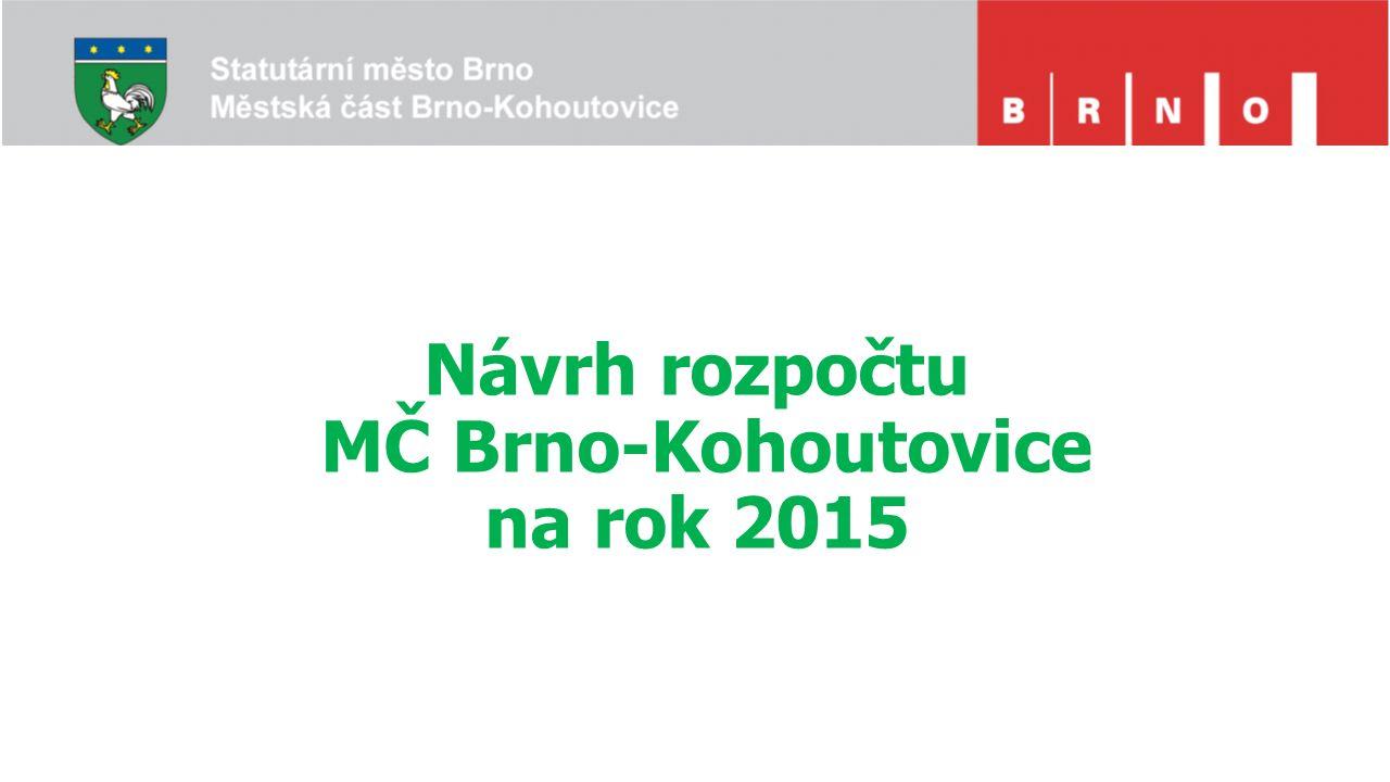 Návrh rozpočtu MČ Brno-Kohoutovice na rok 2015