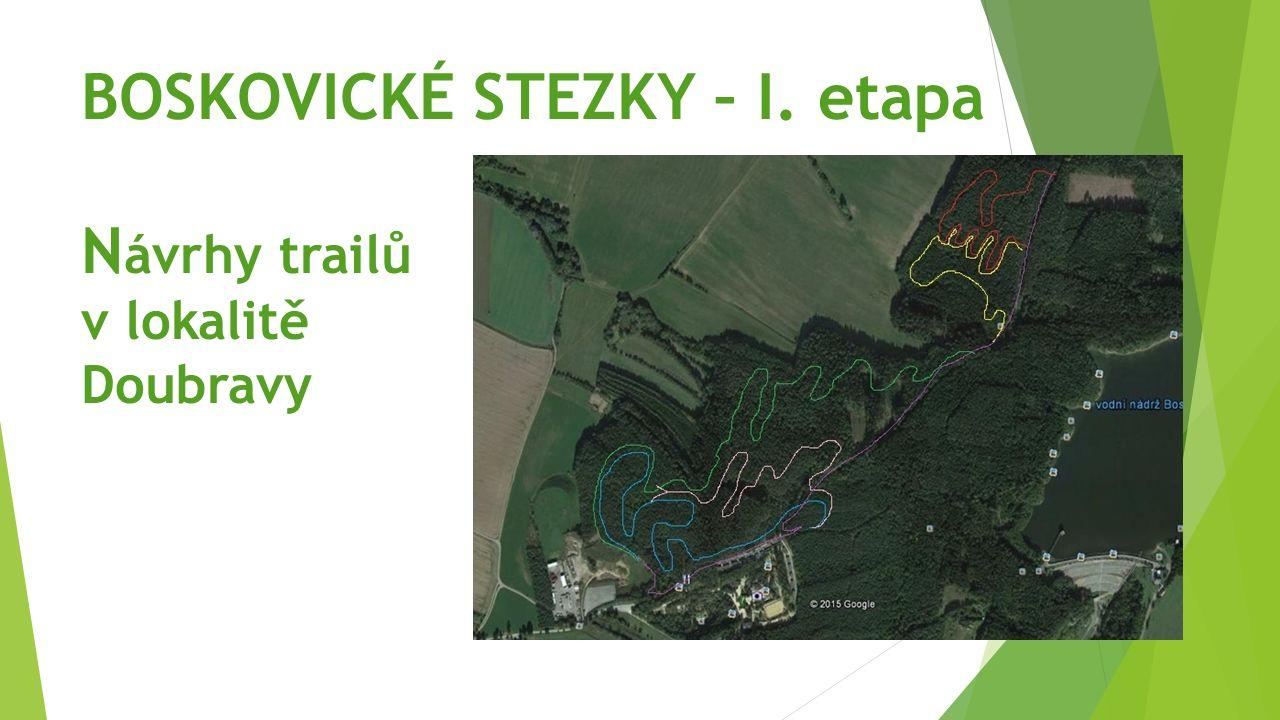 BOSKOVICKÉ STEZKY – I. etapa N ávrhy trailů v lokalitě Doubravy