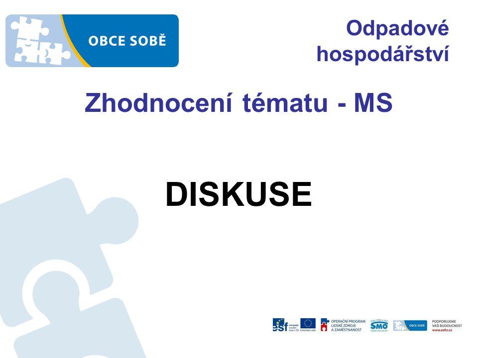 Odpadové hospodářství Zhodnocení tématu - MS DISKUSE