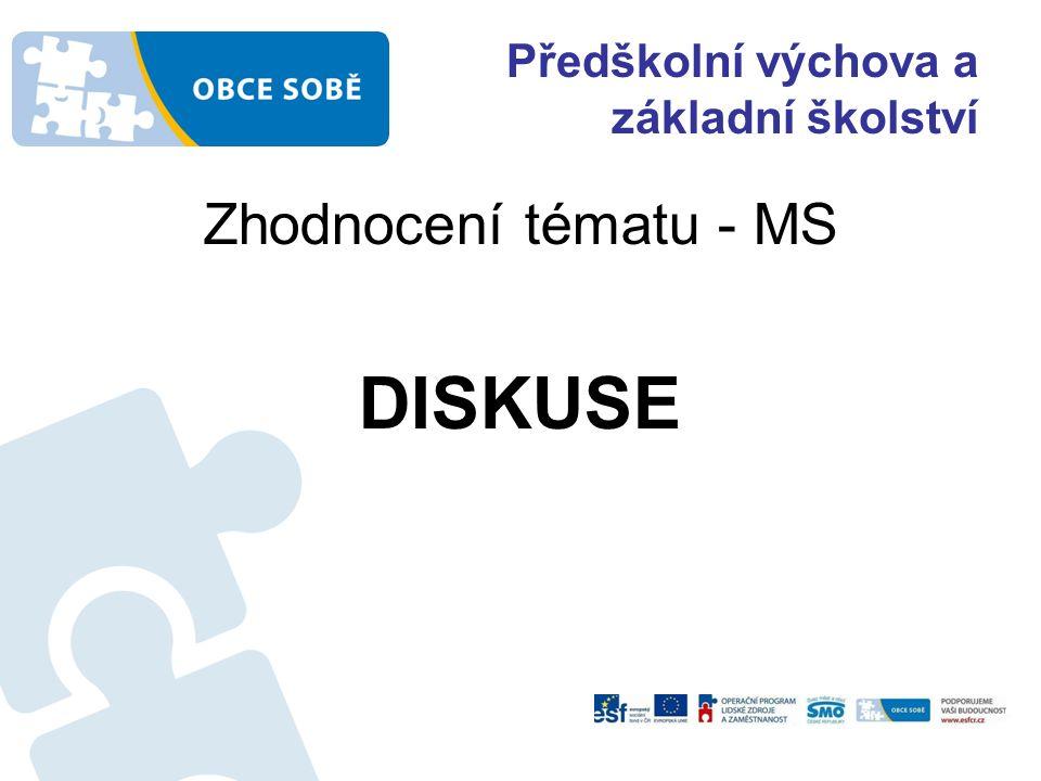 Předškolní výchova a základní školství Zhodnocení tématu - MS DISKUSE