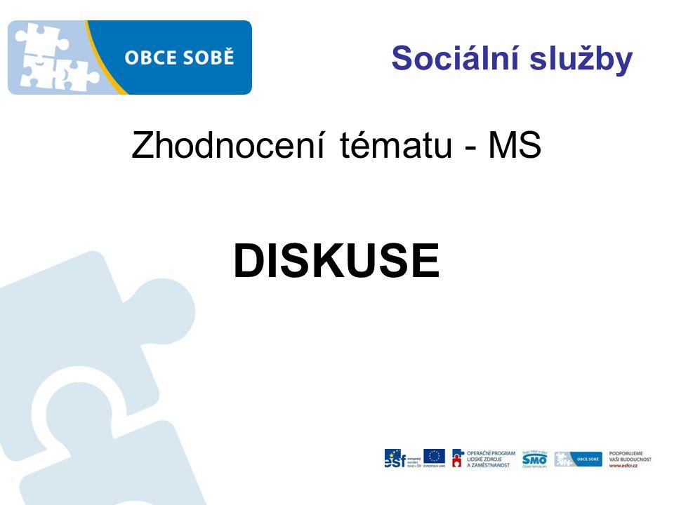 Sociální služby Zhodnocení tématu - MS DISKUSE