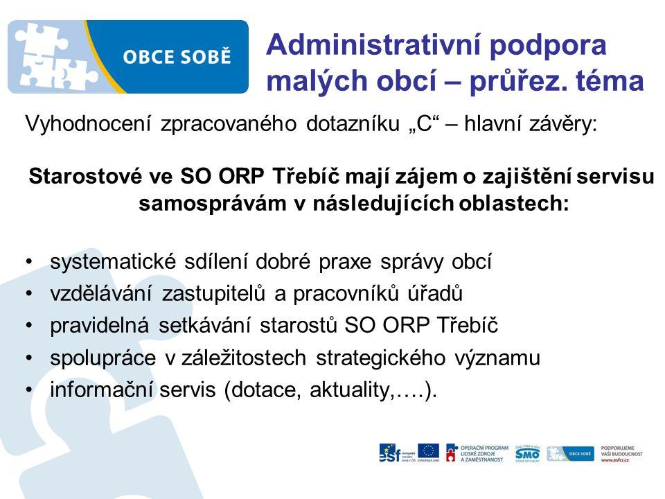 Administrativní podpora malých obcí – průřez.