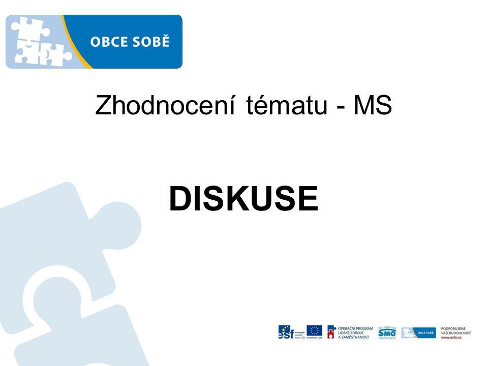 Zhodnocení tématu - MS DISKUSE