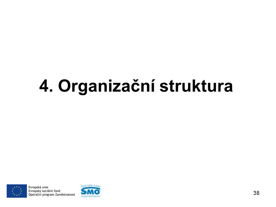 4. Organizační struktura 38