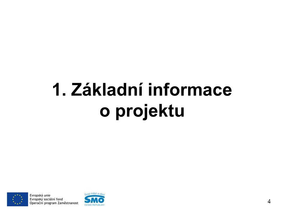 1. Základní informace o projektu 4