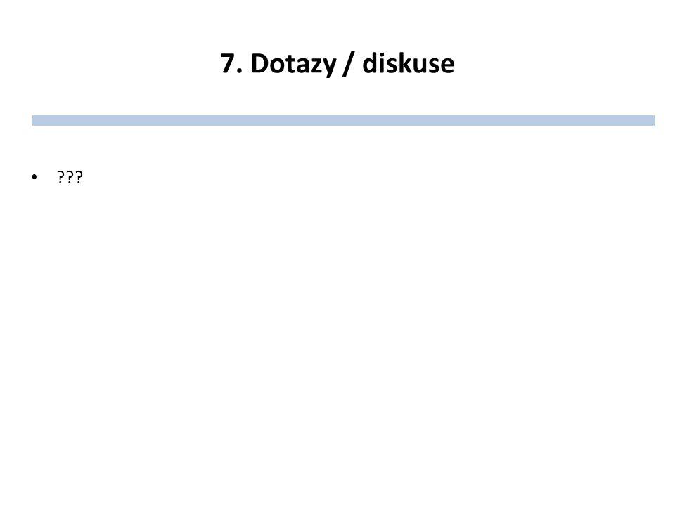 7. Dotazy / diskuse