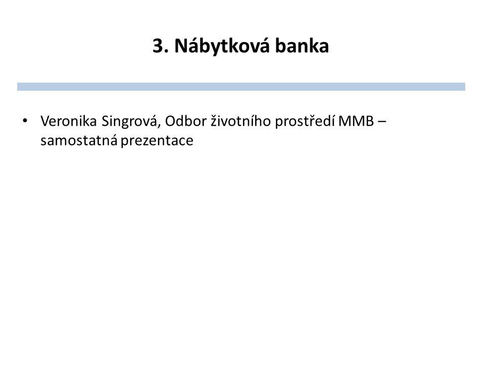 3. Nábytková banka Veronika Singrová, Odbor životního prostředí MMB – samostatná prezentace