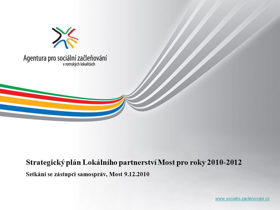 www.socialni-zaclenovani.cz Strategický plán Lokálního partnerství Most pro roky 2010-2012 Setkání se zástupci samospráv, Most 9.12.2010