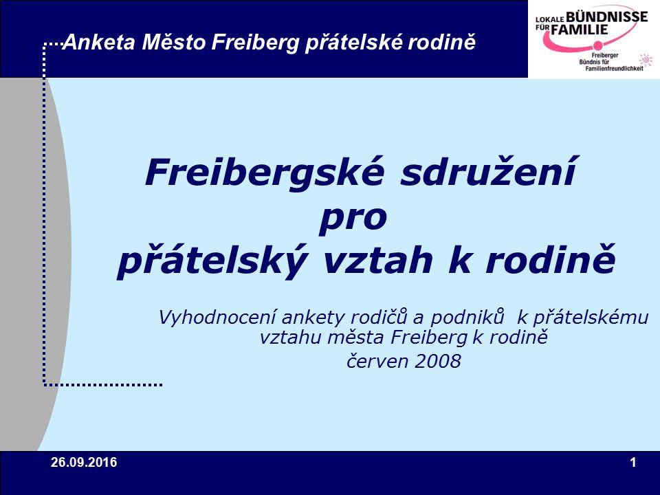 26.09.201612 Anketa Město Freiberg přátelské rodině 4Výsledky – Všeobecné stanovení cíle 1.