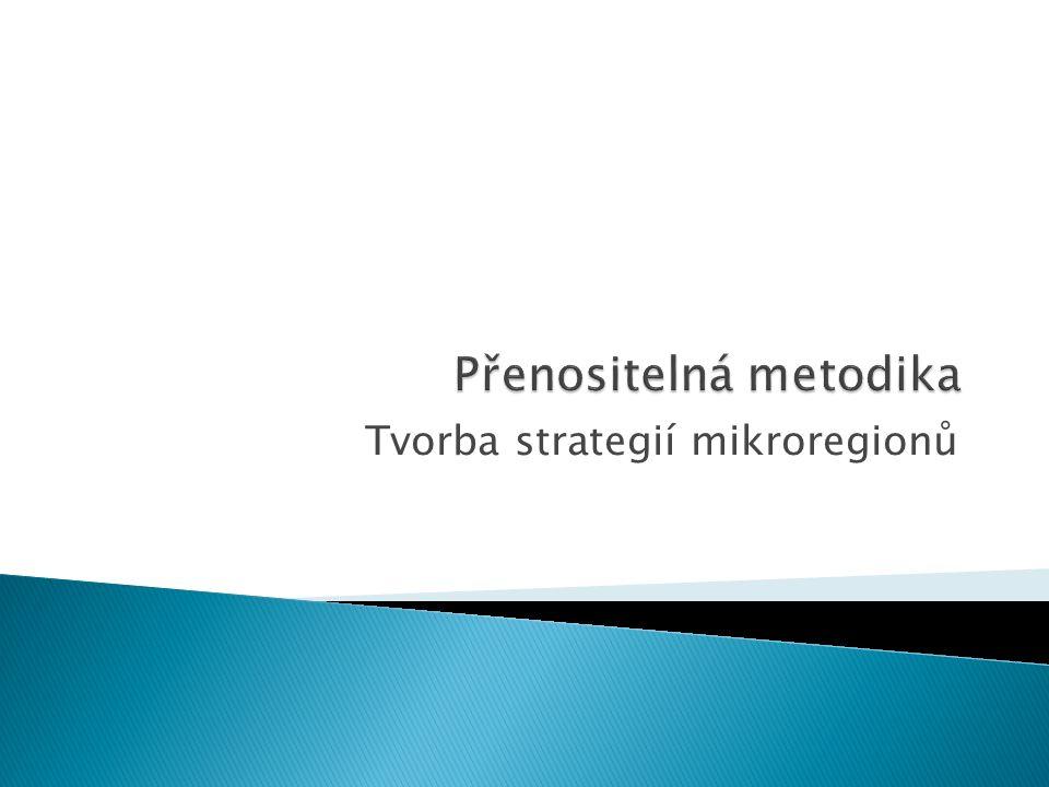 Tvorba strategií mikroregionů