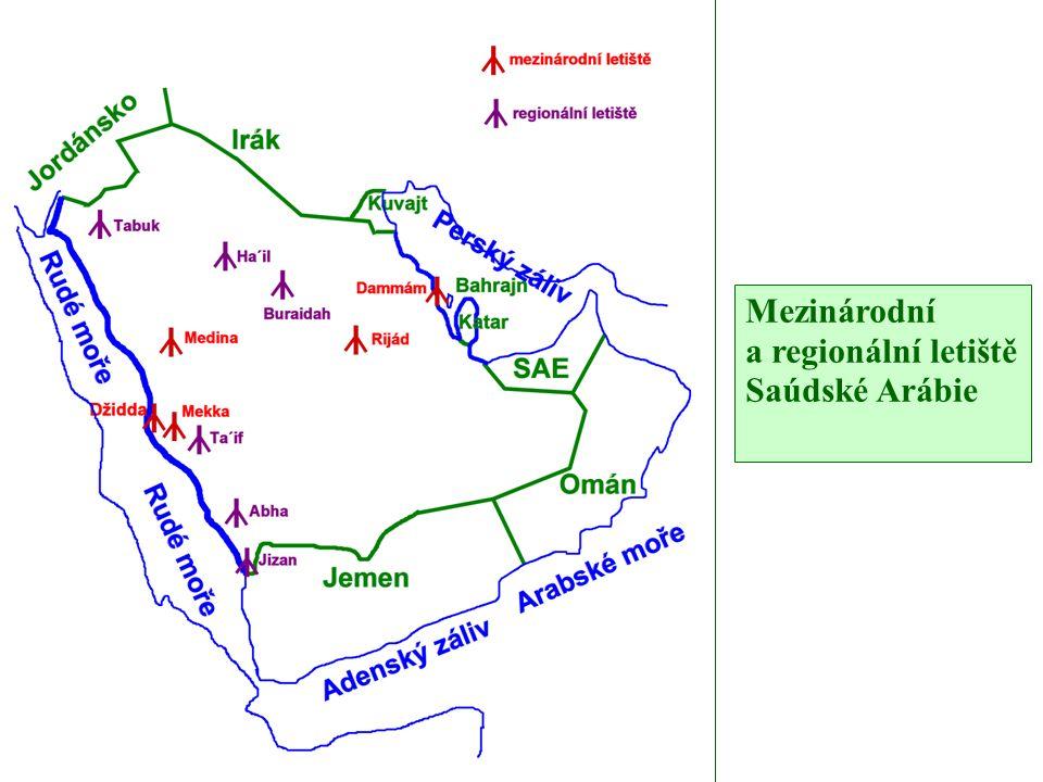 Mezinárodní a regionální letiště Saúdské Arábie
