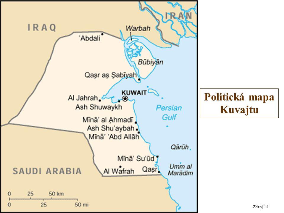 Zdroj 14 Politická mapa Kuvajtu