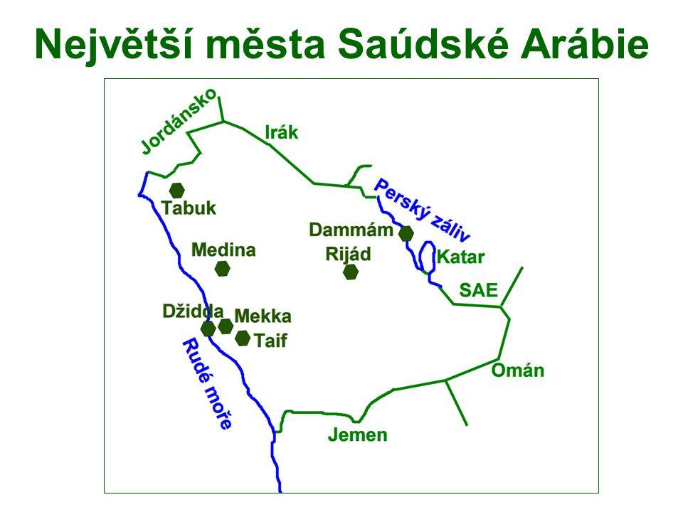 Největší města Saúdské Arábie